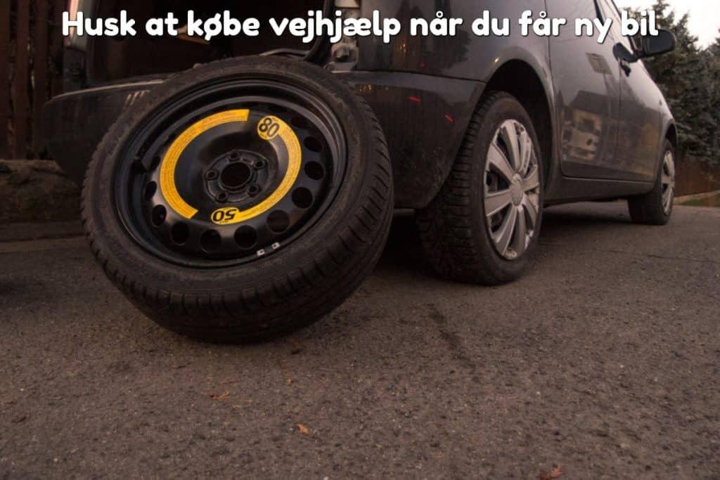 Husk at købe vejhjælp når du får ny bil